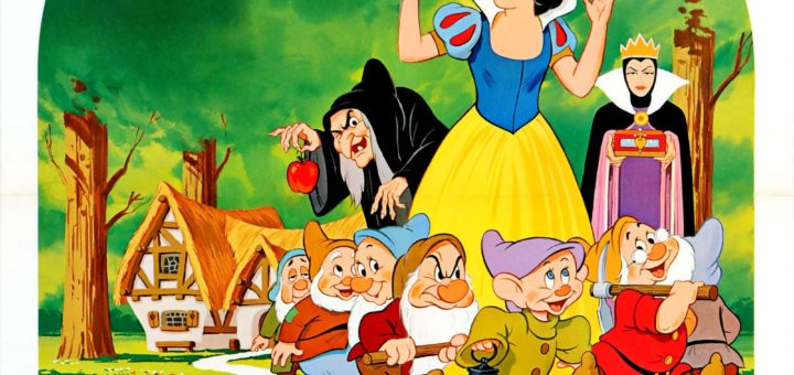 "Poster for the movie ""Snow White and the Seven Dwarfs"""
