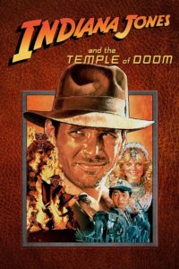 "Poster for the movie ""Indiana Jones and the Temple of Doom"""